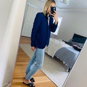 Topshop blue boy blazer